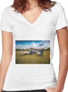 Spitfire Parade Women's Fitted V-Neck T-Shirt