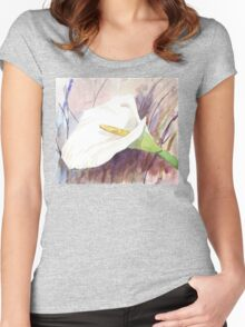 ARUM LILY (Zantedeschia aethiopica) Women's Fitted Scoop T-Shirt