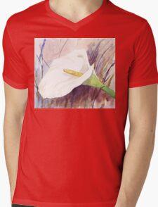 ARUM LILY (Zantedeschia aethiopica) Mens V-Neck T-Shirt