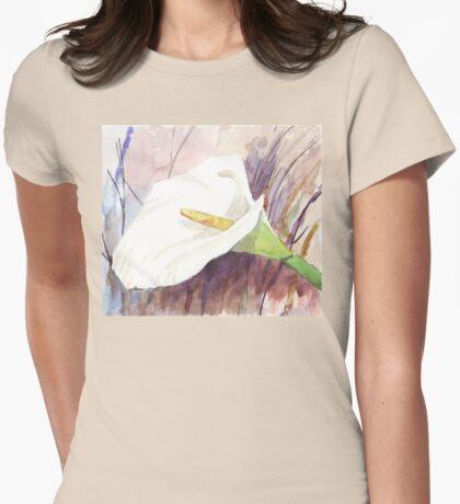 ARUM LILY (Zantedeschia aethiopica) Womens Fitted T-Shirt
