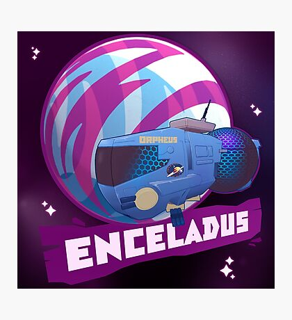 Enceladus Loaded for Space Bear! Photographic Print