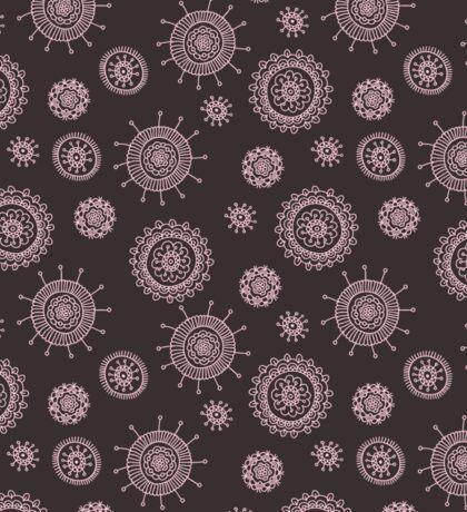 simple seamless doodle flower pink pattern Sticker