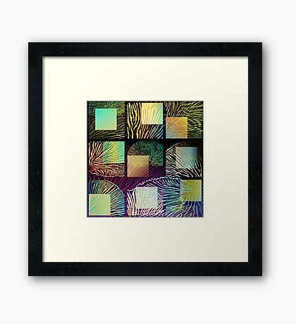 Black oyster mushroom square Framed Print