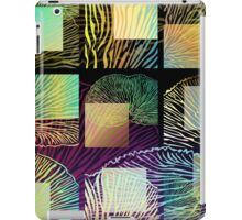 Black oyster mushroom square iPad Case/Skin