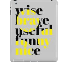 Motivation Words iPad Case/Skin