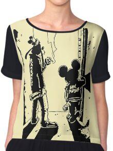 Banksy punk Chiffon Top