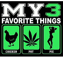 My 3 Favorite Things Chicken Pot Pie Photographic Print