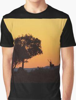 Red Deer Stag at Sunset - Sierra de Andujar Graphic T-Shirt