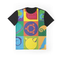 Linux Logo Tiles Graphic T-Shirt
