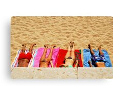 getting tanned Canvas Print