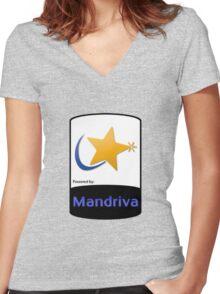 Mandriva [HD] Women's Fitted V-Neck T-Shirt