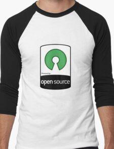 Powered by Open Source ! [HD] Men's Baseball ¾ T-Shirt