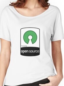 Powered by Open Source ! [HD] Women's Relaxed Fit T-Shirt