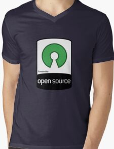 Powered by Open Source ! [HD] Mens V-Neck T-Shirt
