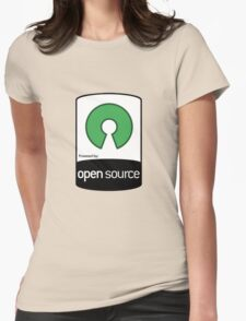 Powered by Open Source ! [HD] Womens Fitted T-Shirt