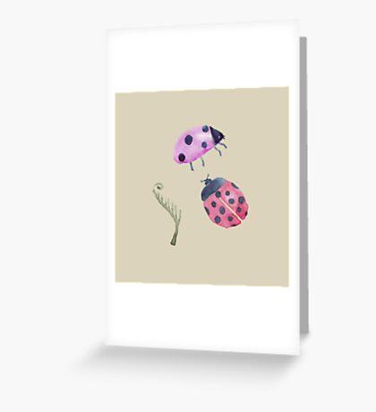 Lady Bug Design Greeting Card