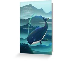 Wondering Whale - LIMITED EDITION Greeting Card