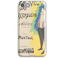Sheet Music Les veuves du Luxembourg by Montoja and Gaston Maquis, performed by Mévisto Henri Gabriel Ibels () iPhone Case/Skin