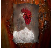 Rusty Red Top Rooster by Penny Odom