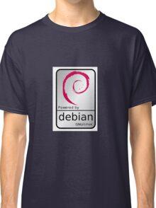 Powered by DEBIAN ! Classic T-Shirt