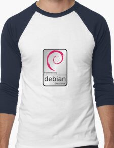 Powered by DEBIAN ! Men's Baseball ¾ T-Shirt
