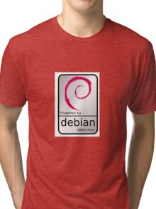 Powered by DEBIAN ! Tri-blend T-Shirt