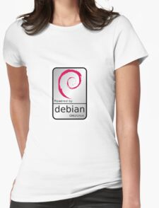 Powered by DEBIAN ! Womens Fitted T-Shirt