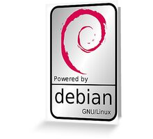 Powered by DEBIAN ! Greeting Card