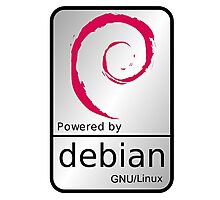 Powered by DEBIAN ! Photographic Print