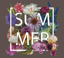 Floral and summer Graphic Design Baby Tee