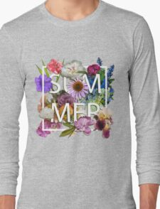 Floral and summer Graphic Design Long Sleeve T-Shirt