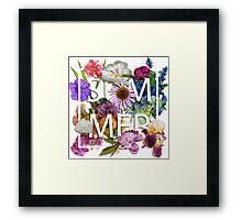 Floral and summer Graphic Design Framed Print