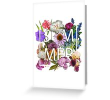 Floral and summer Graphic Design Greeting Card