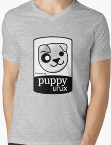 Powered by Puppy ! Mens V-Neck T-Shirt