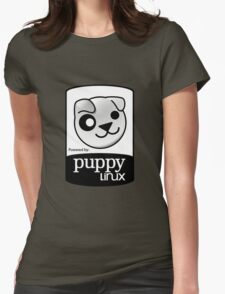 Powered by Puppy ! Womens Fitted T-Shirt