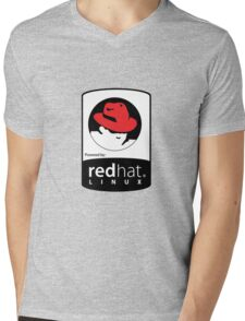 Powered by REDhat ! Mens V-Neck T-Shirt