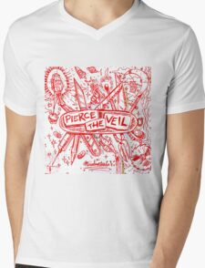 PIERCE THE VEIL MISADVENTURES WHITE 2016 Mens V-Neck T-Shirt