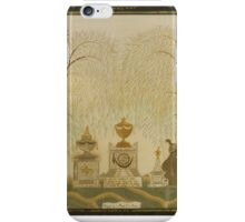 SILK EMBROIDERED MOURNING PICTURE FOR DEACON BENJAMIN CHAPLIN, LYDIA GRIFFIN, AND HANNAH AVERY iPhone Case/Skin