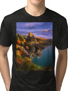 Baycal Lake Landscape Tri-blend T-Shirt