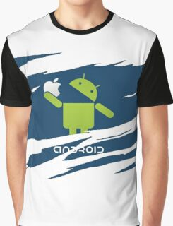 ANDROID EATS APPLE ! Graphic T-Shirt