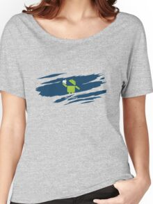 ANDROID EATS APPLE ! Women's Relaxed Fit T-Shirt