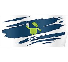 ANDROID EATS APPLE ! Poster