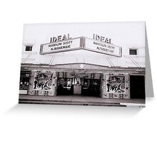 Ideal Theater ~ Now Showing... Greeting Card