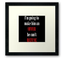 Godfather Movie Quote Framed Print