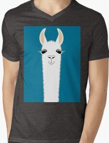 LLAMA PORTRAIT #10 Mens V-Neck T-Shirt