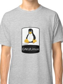 Powered by GNU/Linux ! Classic T-Shirt