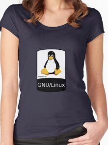 Powered by GNU/Linux ! Women's Fitted Scoop T-Shirt
