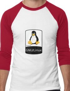 Powered by GNU/Linux ! Men's Baseball ¾ T-Shirt