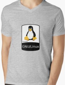 Powered by GNU/Linux ! Mens V-Neck T-Shirt