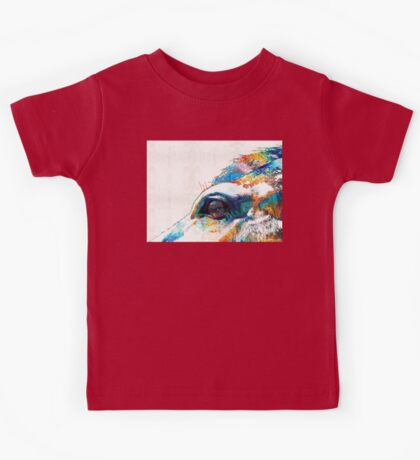 Colorful Horse Art - A Gentle Sol - Sharon Cummings Kids Tee
